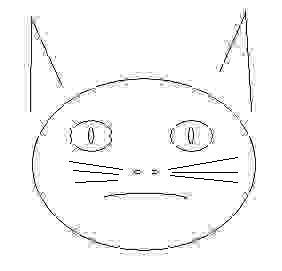 Рисованный кот с усами