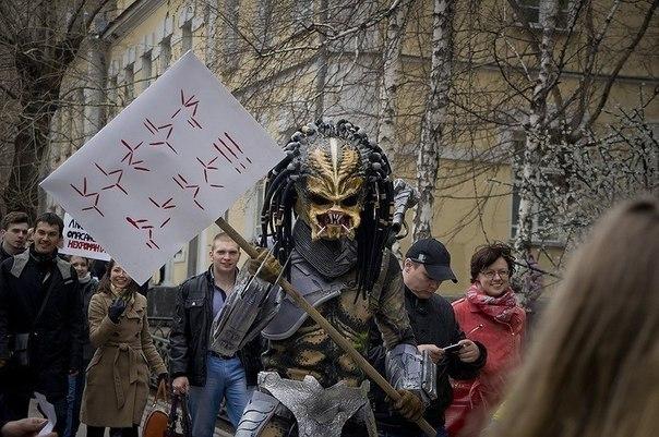 Хищники за Единую Россию!