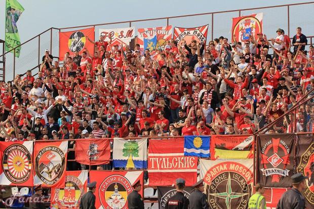 В Томске «Спартак» поддержали около двух тысяч болельщиков
